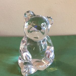🎄Princess House Lead Crystal Clr Glass Bear EUC